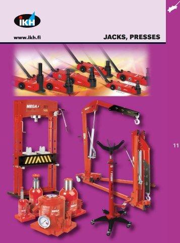 11. jacks, presses