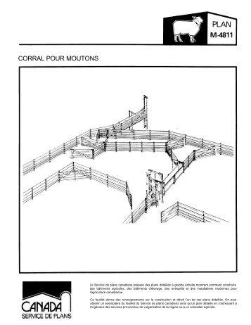 Feuillet de Corral pour Moutons (Méteriques) - Canada Plan Service ...