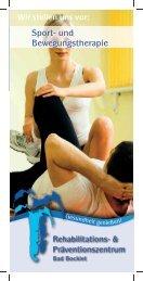 Rehaklinik Bad Bocklet - Sport- und Bewegungstherapie