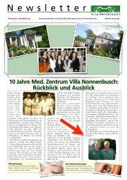10 Jahre Med. Zentrum Villa Nonnenbusch - Facharzt für Orthopädie