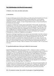 L'exposé sur l'abolitionnisme et le droit de libre circulation