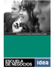 Presentación Escuela de Negocios (Descargar brochure) - IDEA