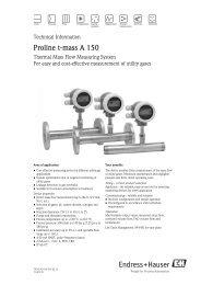 Proline t-mass A 150 - Durable Controls