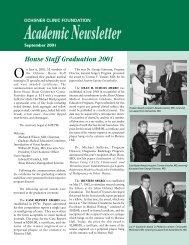 Academic Newsletter - Ochsner Academics - Ochsner.org