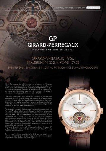 Girard-PerreGaux 1966 Tourbillon sous PonT d'or - Market