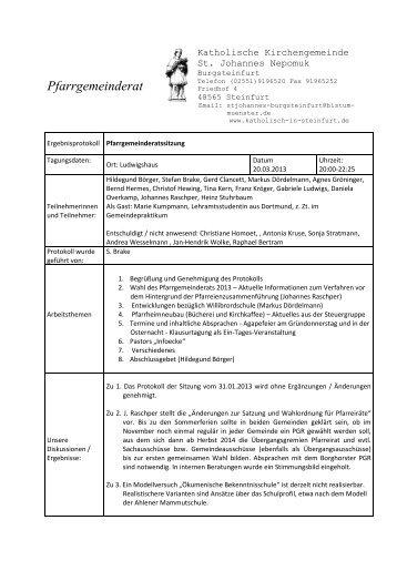PGR-Protokoll vom 20. 03. 2013 - Katholisch in Steinfurt