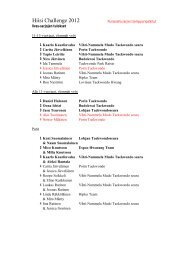 Liikesarjojen SM-liiga 2012 4/5 - Suomen Taekwondoliitto