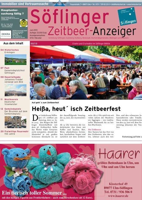 Söflinger Zeitbeer-Anzeiger vom Juni 2013 (PDF 7,9 MB)