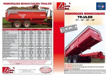 remorques monocoques trailer - Agram