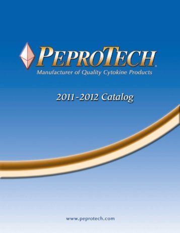 2011-2012 Catalog - PeproTech, Inc.