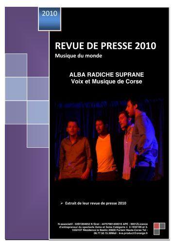 Dossier PDF (1.7Mo) : Alba - L'Eclat