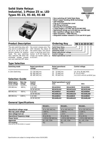 Rm series solid state relays spec sheet durex industries carlo gavazzi rs1a series solid state relay data instrumart sciox Images