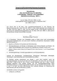 Beihilfenverordnung - BVO -