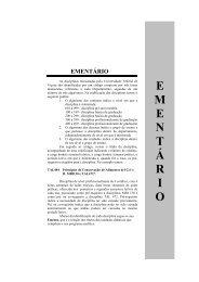 59 Ementário - Departamento de Engenharia Civil - UFV