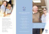 Bequests Brochure - Calvary Health Care Tasmania St John's Campus