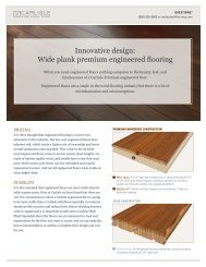 Innovative design: Wide plank premium engineered flooring