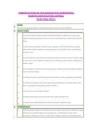 Constitution - Asia Pacific Paediatric Nurses Association