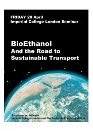 Read the programme - BioAlcohol Fuel Foundation