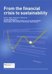 From the financial crisis to sustainability - Potsdam Institute for ...