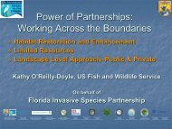 The Florida Invasive Species Partnership - Everglades Cooperative ...