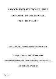 ASSOCIATION SYNDICALE LIBRE DOMAINE DE MARSINVAL