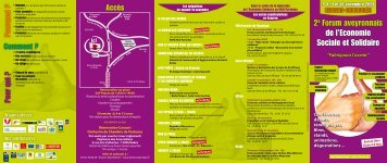 2e Forum aveyronnais de l'Economie Sociale et ... - Slow Food France