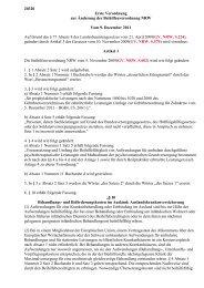 Erste Verordnung zur Änderung der Beihilfenverordnung NRW
