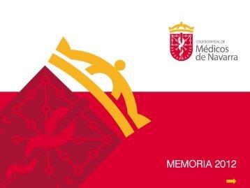 Memoria 2012 - Colegio oficial de Medicos de Navarra