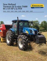 New Holland Tracteurs de la série T6000 80 à 135 HP à la PDF