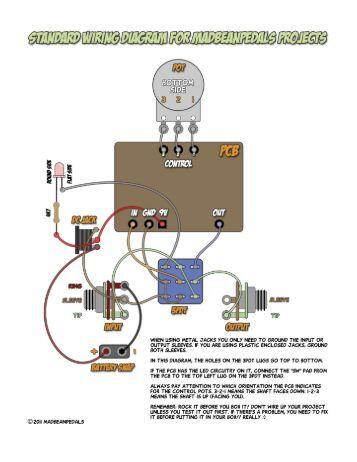wiring diagram standard wiring diagram madbean pedals