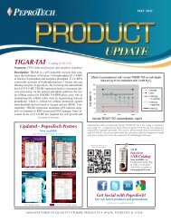 Updated - PeproTech Posters - PeproTech, Inc.