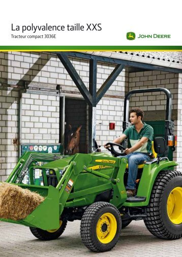 Tracteurs 3036 E - John Deere