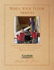 Installation & Finishing Guide - Carlisle Wide Plank Floors