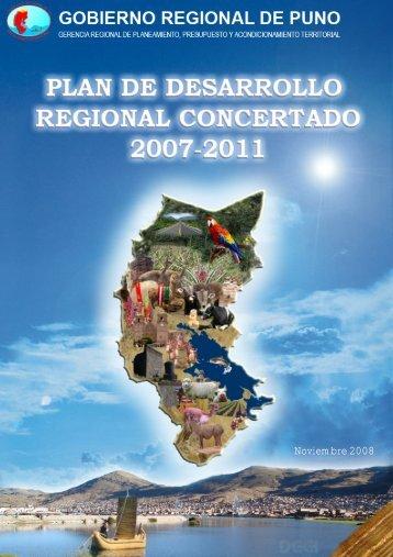 Plan de Desarrollo Regional Concertado 2007- 2011 - Gobierno ...