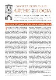 ANNO XII - n. 2 - Maggio 2008 - Società Friulana di Archeologia