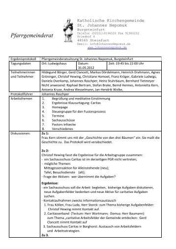 PGR-Protokoll_31. 05. 2012 - Katholisch in Steinfurt