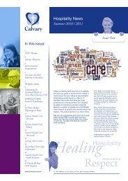 Hospitality News - Calvary Health Care ACT