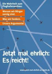 Die Wahrheit zum Flughafenausbau - Teltow gegen Fluglärm