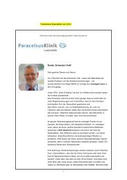 Newsletter Juli 2012 - Paracelsus Klinik Lustmühle