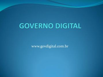 GOVERNO DIGITAL - Prefeitura Municipal de Amparo