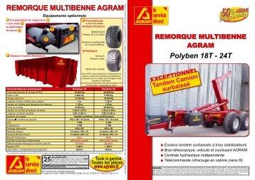 Polyben 18T - 24T REMORQUE MULTIBENNE AGRAM