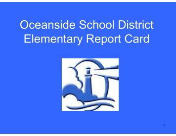 Oceanside School District Elementary Report Card