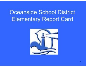 Oceanside School District Elementary Report Card