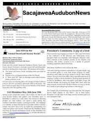 SAS May 2011 Newsletter PDF - Sacajawea Audubon