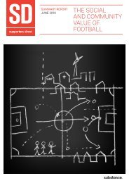 The Social Value of Football - Supporters Direct