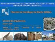 Arquitectura - UCA - Departamento de Diseño