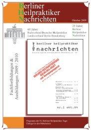 Heilpraktiker Berliner Nachrichten - Samuel-Hahnemann-Schule