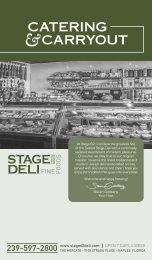 Catering Menu - Stage Deli