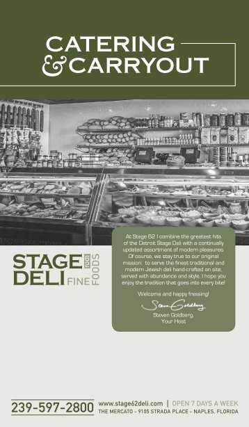 Catering Menu - Stage Deli
