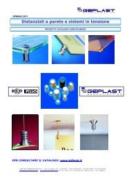 Distanziali a parete e sistemi in tensione - Geplast Communication
